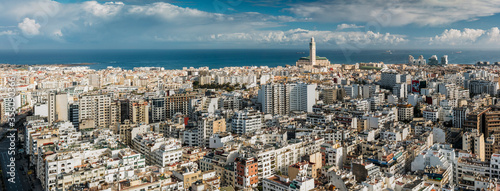 Canvas Panoramic view of Casablanca skyline.