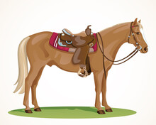 Western Horse With Saddle And ...