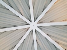 Ceiling Of A Pavillion With Intersecting Lines