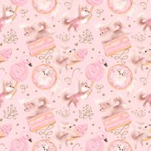 Cute Dogs Love Sweets. Pink Gi...