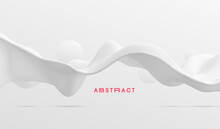 3D Wavy Background. Array With...