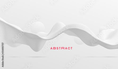 Fotografija 3D wavy background