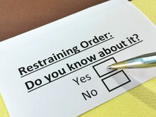 One Person Is Answering Question About Restraining Order.
