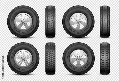 Realistic tires Fototapeta