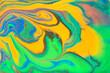 Leinwandbild Motiv Abstract liquid ink with golden gold stains.