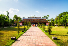 HUE, VIETNAM - SEPTEMBER 02: Temple In Hue, Vietnam On Sep 02, 2011.