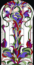 Stained Glass Window In A Clas...