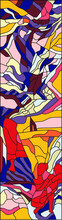 Abstract Stained Glass Window ...