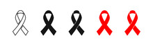 Stop AIDS, Red Ribbon Set Isol...