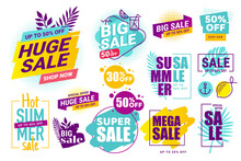 Summer Sale. Vector Illustrati...