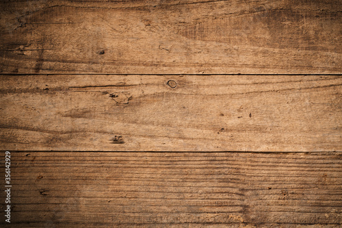 Fototapeta Old brown texture wooden background.Top view for design obraz