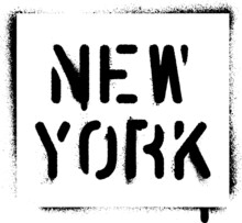''New York'' Spray Paint Graff...