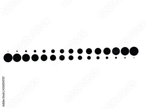 Cuadros en Lienzo Halftone dots in line form. vector dotted logo. design element