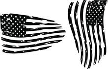 USA Flag - Distressed American...