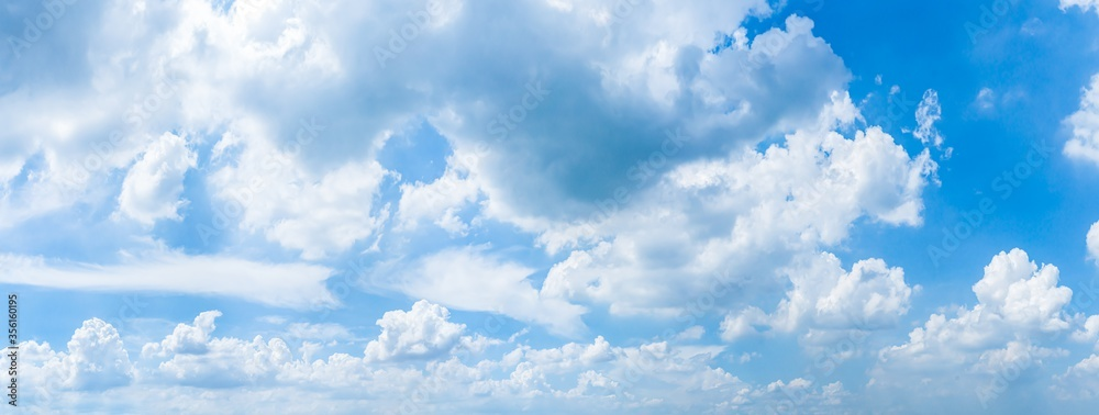 Fototapeta sky panorama.Panoramic shot of a beautiful cloudy sky.