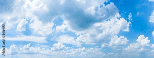Fototapeta sky panorama.Panoramic shot of a beautiful cloudy sky. obraz