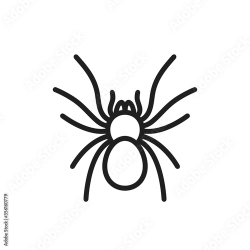 Foto Tarantula logo. Isolated tarantula on white background