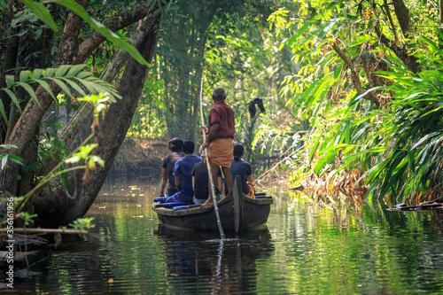 Fototapeta Voyage au Kérala en Inde dans les backwaters