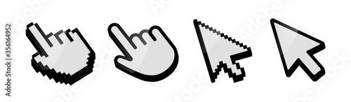 Fotografie, Obraz Cursor icon set vector. Mouse arrow pointer. Cursor mouse icon