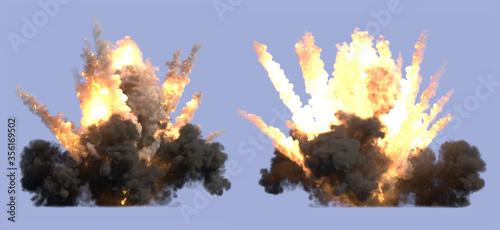 Fotografia Explosion on blue background