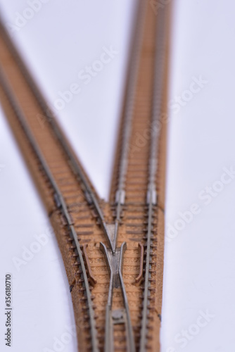 Fotografie, Obraz 模型の線路の分岐器