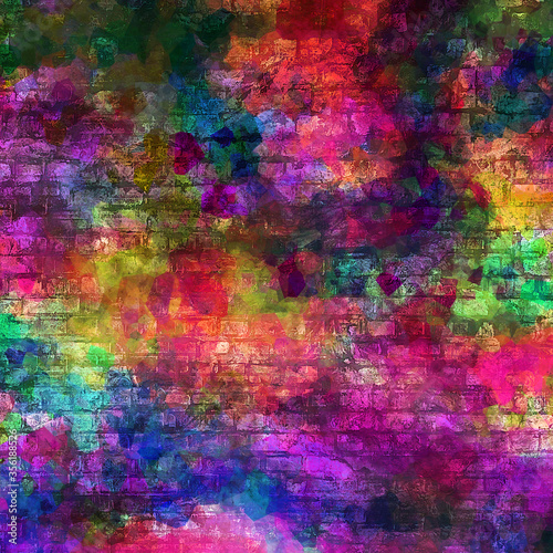 Fototapety, obrazy: Abstract modern painting.digital modern background.colorful texture.digital background illustration.Textured background