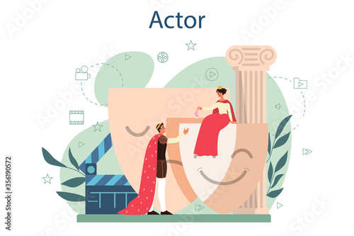 Canvas Print Actor and actress concept