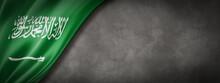Saudi Arabia Flag On Concrete ...