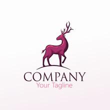 Deer Wild Animal Hunt Logo Vec...