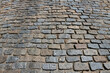 Traditional rough cobblestone way.