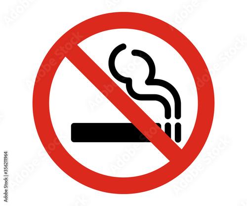 Cuadros en Lienzo no smoking warning sign, cigarette not allowed vector sign