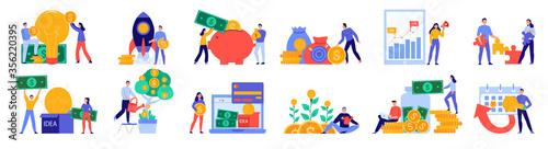 Crowdfunding Icon Set