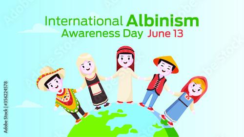 International albinism awareness day on june 13 Canvas Print