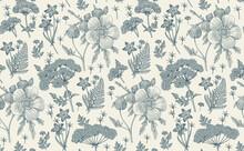 Seamless Pattern Fabric. Beaut...