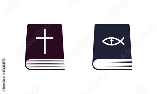 Fototapeta Bible icon in trendy flat style isolated on a white background. Religion symbol. Vector illustration, EPS10 obraz