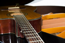 Acoustic Guitar Lying Down Ove...
