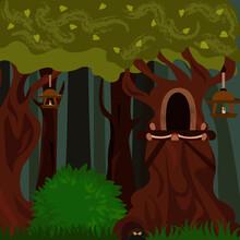 Dark Forest Lanterns And Hollo...
