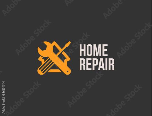 Home repair logo Fototapete