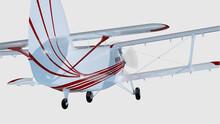 Old Retro Bi Plane Isolate On ...