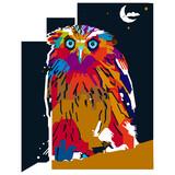 The owl illustration pop art