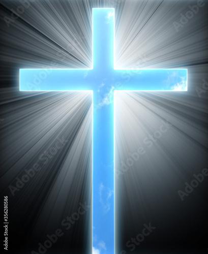 Photo glowing cross