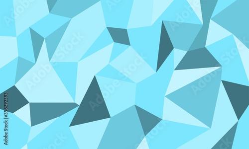 Fotografija multicolor blue geometric rumpled triangular low poly style gradient illustration graphic background