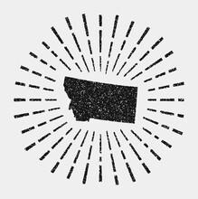 Vintage Map Of Montana. Grunge...