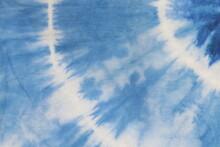 Tie Dye Abstract Blue Backgrou...