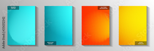 Colorful point faded screen tone cover templates vector set Canvas-taulu