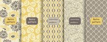 Set Of Retro Seamless Patterns...