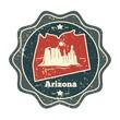 arizona map label