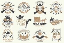 Cowboy Club Badge. Ranch Rodeo...