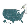 us map with massachusetts state bird