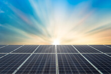 Solar Panel Cell On Dramatic S...